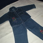 Джинсовый костюмчик 2 -3 года Курточка новая , брюки одевались