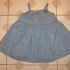Джинсовое платье для девочки на 1 год, PLACE ,США