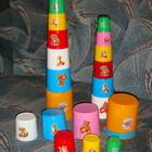 Пирамидка пирамида пасочки стаканчики разноцветные с ведёрком