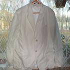 импортный стильный катоновый пиджак мужской цвет молоко