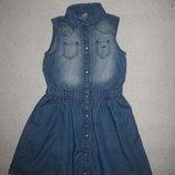 красивое летнее тонкое джинсовое платье TU на 6-7 лет