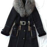 пальто с чернобуркой размер S-M