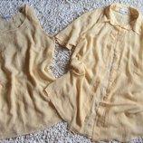 Классный летний комплект майка рубашка можно для животика