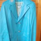 Кожанный пиджак с перфорацией и рисунком