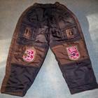 Зимові штани на флісі на хлопчика 1-2р.