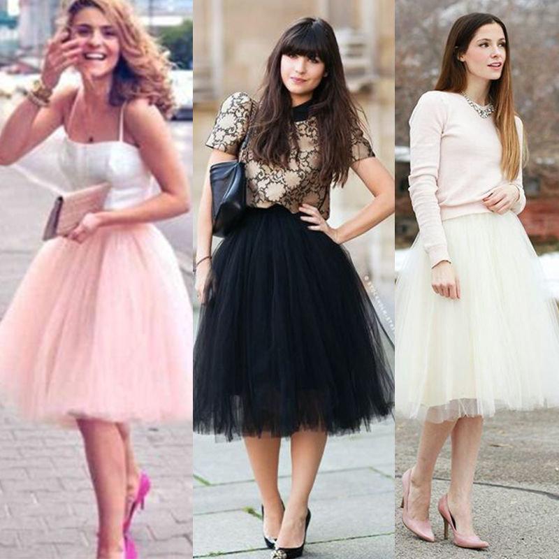Мятная фатиновая юбка