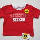 новая красная футболочка George на 0-3мес