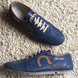 кроссовки кожаные мужские голубые ENERGIE