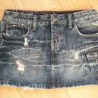 Снизила Цену Стильная, крутая короткая джинсовая юбка ROXY потертостями. Супер, прикольная.