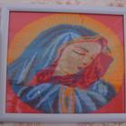 Продам плетёную бисером картину Пресвятой девы Марии