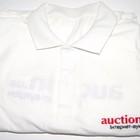 Новая рубашка-поло белого цвета Auction.ua. Короткий рукав.