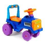 Машинка каталка толкатель толокар Трактор с бардачком и пищалкой на руле
