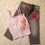 Шикарный костюм Barbie на 2-3 года. Джинсы с футболкой. Англия.