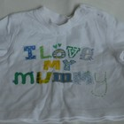 0 - 3 месяцев Фирменная футболка футболочка с надписью люблю Свою маму