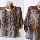 Легкая блуза-пиджачок с принтом. SALE