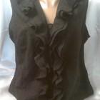Блузка без рукавов, хлопок -шитье 50-52размер