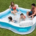 Семейный надувной бассейн Intex, 56475 со спинками и сиденьями