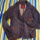 Джинсовый пиджак, как новый , размер XS-S