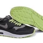 Кроссовки Nike Air Max 87 - серые салатовый