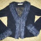 Оригинальная блузка-кофточка с меховым воротничком обмен