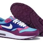 Женские кроссовки Nike Air Max 87 сиренево-голубые