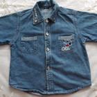 Джинсовая рубашка для мальчика 3-4 года рост 104-110 см
