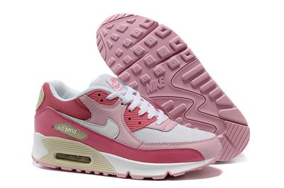 Женские кроссовки Nike Air Max 90 бело-розовые