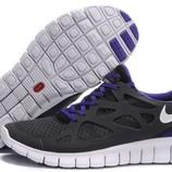 Женские кроссовки Nike Free Run Plus 2 черно-синие