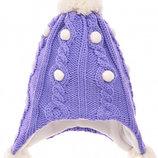 Lenne Ленне зимняя шапка 52р осень-зима новая. Очень теплая, сиреневая. Маломерит на 48р