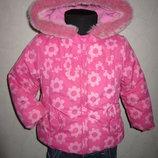 На 1,5-2 года Яркая деми куртка MatherCare девочке