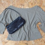 кофта свитер блуза блузка размер L со шнуровкой