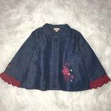 Джинсовая куртка пиджак Catimini 2-3 года. Италия. Кофта, курточка, свитшот, джины, платье