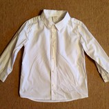 Белая рубашка H&M 1,5-3 года. Нарядная, праздничная сорочка.