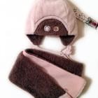 Новое. Комплект зимний. Шапка шарф Cocodrillo на 1-2-3 года.