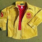 Стильная рубашка Happy Year Polo на 4-5 лет. Теплая, стильная рубашка.