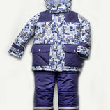 Зимняя куртка курточка комбинезон полукомбинезон краги для мальчика