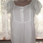Батистовая блуза Chicoree наш 46/48 блузка белая хлопковая