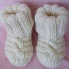 Шерстяные вязаные носочки ручной работы
