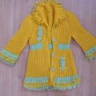 пальто вязаное б/у на 4-5 лет