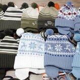Демисезонные шапочки мальчикам фирмы Konwar Польша 44-56 р. в наличии