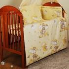 Бампер и набор постели в кроватку новорожденного. Мишка на лесенке