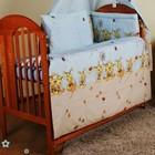 Бампер и набор постели из 3-х ед. в кроватку новорожденного-Пчелы