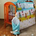 Бампер и набор постели из 3-х ед. в кроватку новорожденного-Садовник