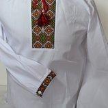 Детская вышиванка рубашка для мальчиков на роста от 110 до 152 см.