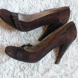 Туфли из натуральной замши Vero Cuoio Италия, р. 37