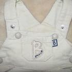 Вельветовий утеплений стильний комбінезончик Little bondle на вік 0-4 міс. подарунок