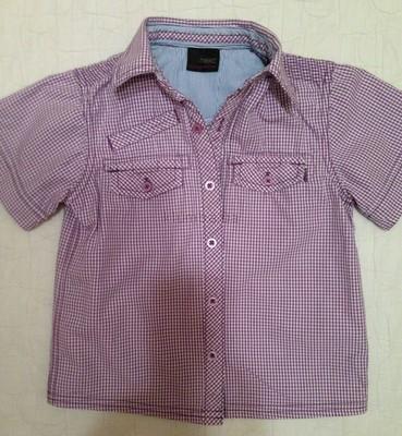 Рубашка с коротким рукавом Next на 2-3 года. Шведка для мальчика.