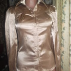 Блузка рубашка Spring Fashion 8/36, наш 42 атласная