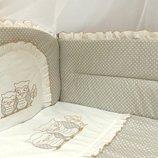 комплект постельного детского белья набор постельный детский в кроватку для младенцев новорожденных