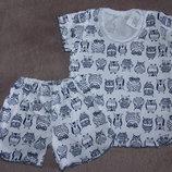 Комплект-Пижама для девочки, рост 86-110см новые в наличии